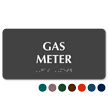 Gas Meter TactileTouch Braille Sign