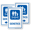 Genetics Hospital Sign with Family Genes Symbol