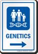 Genetics Right Arrow Hospital Sign