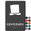 Gentlemen Hat Braille Restroom Sign