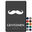 Gentlemen Mustache Braille Restroom Sign