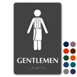 Gentlemen Towel Braille Restroom Sign