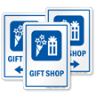 Gift Shop Sign with Gift and Bouquet Symbol