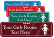 Girls Room Symbol Sign