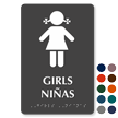 Tactile Touch Braille Bilingual Sign for Girls
