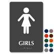 Girls Restroom Braille Sign