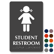 Girls Student Restroom TactileTouch Braille Sign