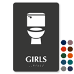 Girls TactileTouch Braille Restroom Sign