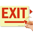 Exit Arrowheads Glow Signs