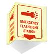 Emergency Flashlight Station Sign