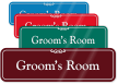Groom's Room ShowCase Wall Sign
