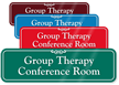 Group Therapy Conference Room Showcase Wall Sign