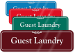 Guest Laundry ShowCase Wall Sign