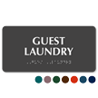 Guest Laundry Tactile Touch Braille Sign