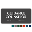 Guidance Counselor Tactile Touch Braille Sign
