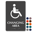 Changing Area Handicap Symbol TactileTouch™ Braille Sign