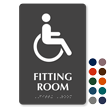 Fitting Room Handicap Symbol TactileTouch™ Braille Sign