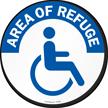 Area of Refuge, Handicap Symbol SlipSafe™ Floor Sign