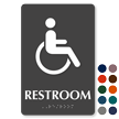 Handicap Restroom TactileTouch Braille Sign
