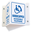 Handicapped Accessible Telephone Sign