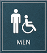 Men Bathroom, Men/Handicapped Sign