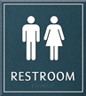 Restroom, Unisex, 8.625 in. x 7.75 in. Sign