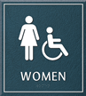 Women Bathroom, Women/Handicapped Sign