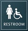Restroom, Women/Handicapped, 8.625 in. x 7.75 in. Sign