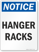 Hanger Racks OSHA Notice Sign