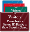 Have Picture ID Ready Showcase Wall Sign