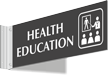 Health Education Corridor Projecting Sign