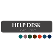 Help Desk Tactile Touch Braille Sign