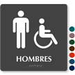 Hombres TactileTouch Braille Restroom Sign