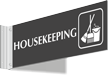 Housekeeping Corridor Projecting Sign
