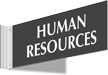 Human Resources Above Door Corridor Sign