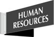 Human Resources Above Door Corridor Sign