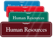 Human Resources ShowCase Wall Sign