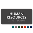 Human Resources Tactile Touch Braille Sign