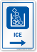 Ice Right Arrow Hospital Sign