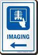 Imaging Left Arrow Hospital Sign