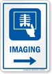 Imaging Right Arrow Hospital Sign