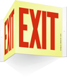 EXIT (6 in. high letters) big size Sign