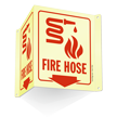 Fire Hose (with arrow and graphic) Sign