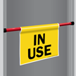 In Use Door Barricade Sign