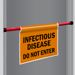 Infectious Disease Door Barricade Sign