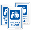 Infectious Disease Hospital Sign with Viral Infection Symbol
