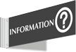 Information Corridor Projecting Sign