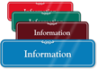 Information Showcase Hospital Sign
