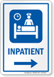 Inpatient Symbol Sign With Right Arrow