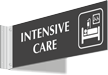 Intensive Care Corridor Projecting Sign